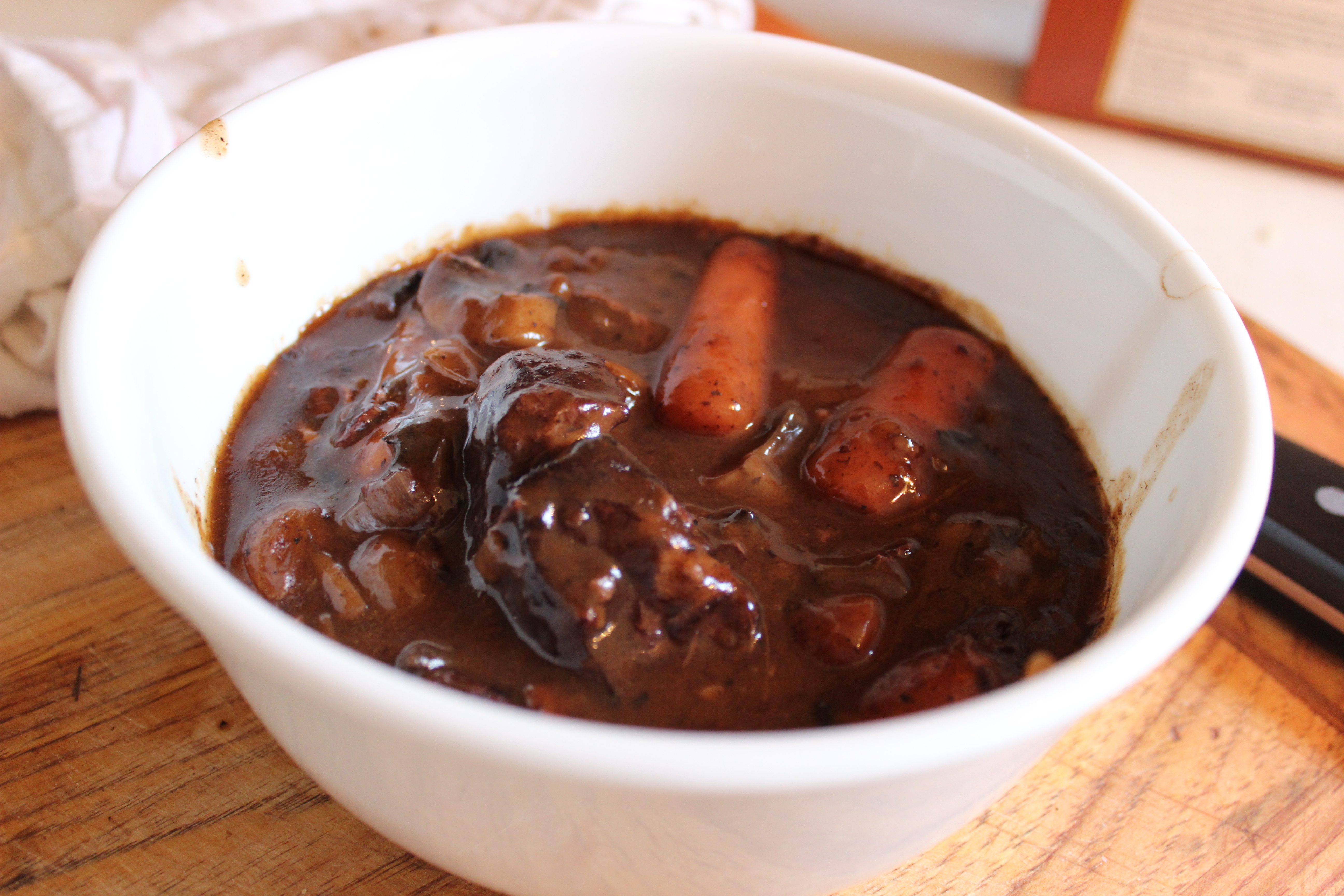 Beef Stew In Red Wine, With Bacon, Onions, And Mushrooms ...